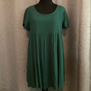 American Apparel Green Short Sleeve Mini Dress